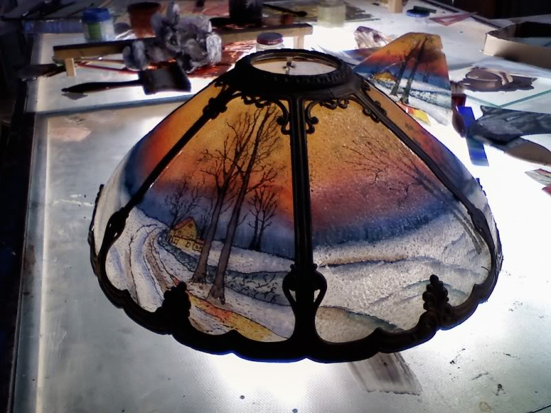 Stained glass lamp shades william l lupkin designs stained glass lamp shades mozeypictures Image collections